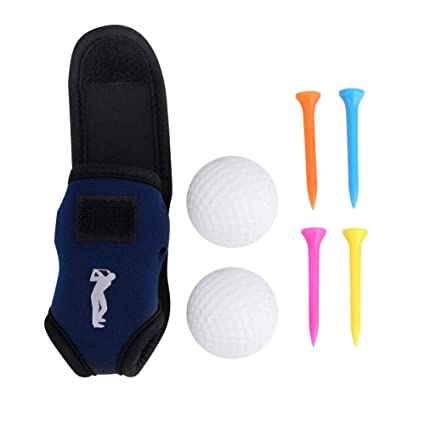 Amazon Com Mini Portable Golf Pouch Golf Ball And Tee Holder