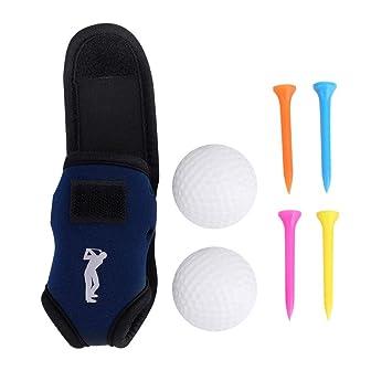 Dilwe Bolsa de Golf, Mini Clip para cinturón de Soporte para Pelota de Golf con 2 Bolas 4 Clavos para Entrenamiento al Aire Libre