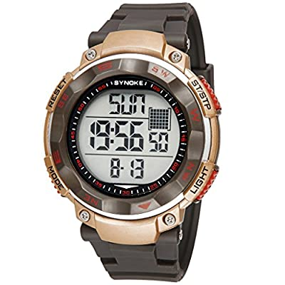 Auspicious beginning Men's Multi-functions Outdoor Sports Waterproof Digital Electronic Watch