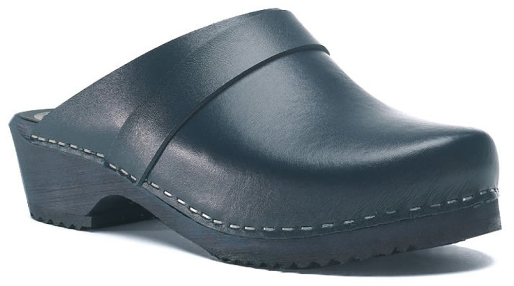 Toffeln Classic Klog 310 Classic Traditional Wooden Clogs - Navy 3