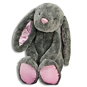 "The Petting Zoo Floppy Long Eared 17"" Brynn Stuffed Bunny Rabbit Gray"