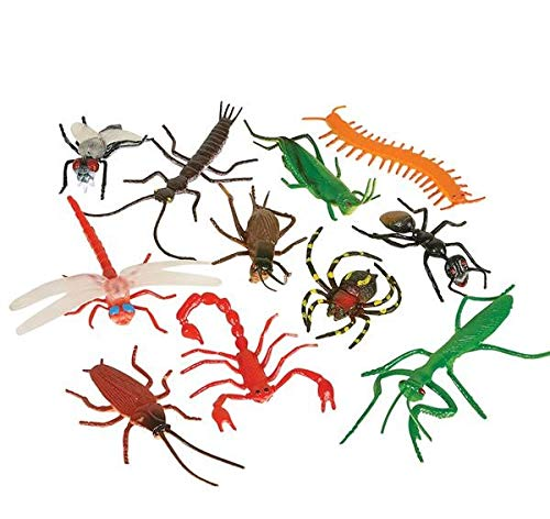 Rhode Island Novelty Assorted Realistic Insects/Bugs | 144 Pieces ()