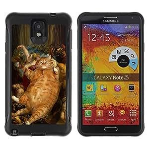 Suave TPU GEL Carcasa Funda Silicona Blando Estuche Caso de protección (para) Samsung Note 3 / CECELL Phone case / / Rubens Bacchus Cat Ginger Red Yellow /