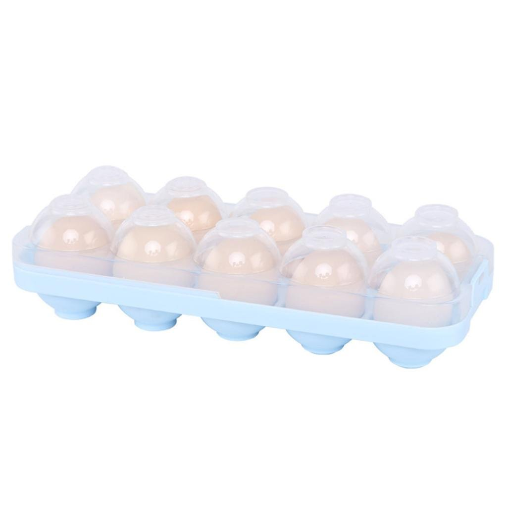 Buimin Safety Egg Tray Holder Egg Storage Case Box New High Quality Bpa-Free Plastic Refrigerator Crisper Storage Container (A)