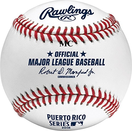 - Rawlings Official Puerto Rico Series MLB Game Baseball Twins Indians - Boxed