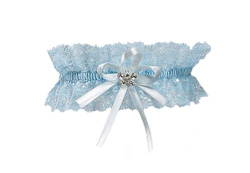 BrautChic Liga elástica de Must Have a la boda de con cristales en forma de mariposa - BLANCO - MA...