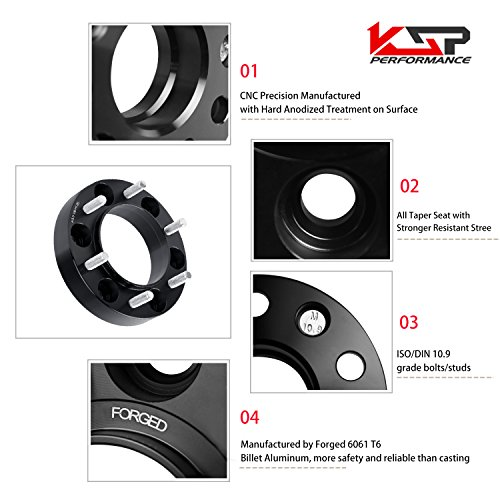 Wheel Spacers for Toyota, KSP Forged 4Pcs 1.5'' 6x5.5 to 6x5.5 Thread Pitch 12x1.5 Hub Bore 106mm 6 Lug 38mm Hub Centric Wheel Adapters for 4-Runner Tacoma Tundra FJ Cruiser Sequoia, 2 Years Warranty by KSP Performance (Image #5)