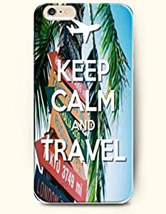 iPhone 6 Case,OOFIT iPhone 6 (4.7) Hard Case **NEW** Case with the Design of KEEP CALM AND TRAVEL - Case for Apple iPhone iPhone 6 (4.7) (2014) Verizon, AT&T Sprint, T-mobile