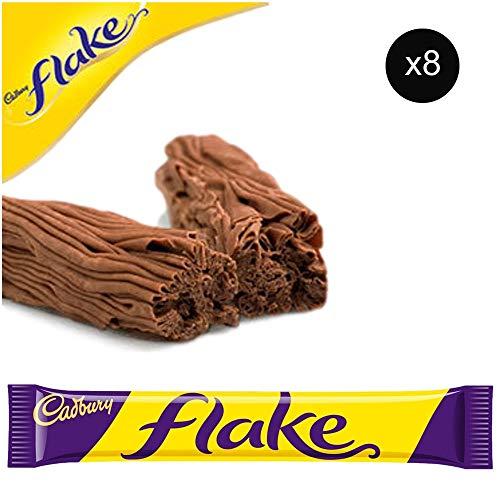 (Cadbury Flake Bars | Total 8 bars of British Chocolate Candy - Cadbury Flake)
