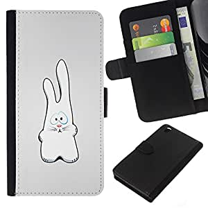 All Phone Most Case / Oferta Especial Cáscara Funda de cuero Monedero Cubierta de proteccion Caso / Wallet Case for HTC DESIRE 816 // White Rabbit Art Drawing Figure Big Ears