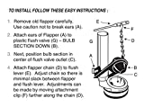 Toilet Flapper Replacement Part for TOTO G-Max