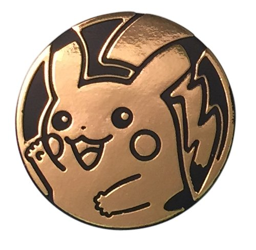 Pikachu Coin from the Pokemon Trading Card Game (Rare, Gold, Large (Pikachu Coin)