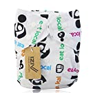 iZiv(TM) Newborn Infant with 2 Inserts Waterproof/Adjustable/Reusable/Washable Cloth Diaper Fit Babies 0-3 Years(Eat Local)