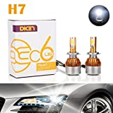 Image of H7 LED Headlight Bulbs Conversion Kit 12000LM 120W 6000K Cool White Replace High Beam/Low Beam COB Chips Super Bright Headlamps - 2 Yr Warranty (Pair)