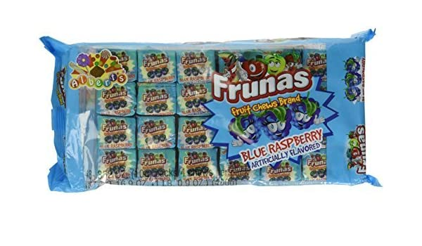 Frunas Fruit Chews Blue Raspberry 48 units by Comestibles ...