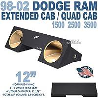 98-02 Dodge Ram Extended Cab & Quad cab 12 Sub Box