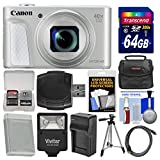 Canon PowerShot SX730 HS Wi-Fi Digital Camera (Silver) with 64GB Card + Case + Flash + Battery & Charger + Tripod + Kit