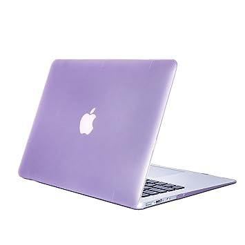 DETUOSI MacBook Air 11.6 Carcasa, Funda Carcasa de Protector para Apple MacBook Air 11.6 Pulgadas (Modelo:A1370 y A1465) Hard Case Cover,Morado