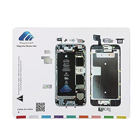 SATKIT Pizarra magnética para organizar Tornillos iPhone 6S ...