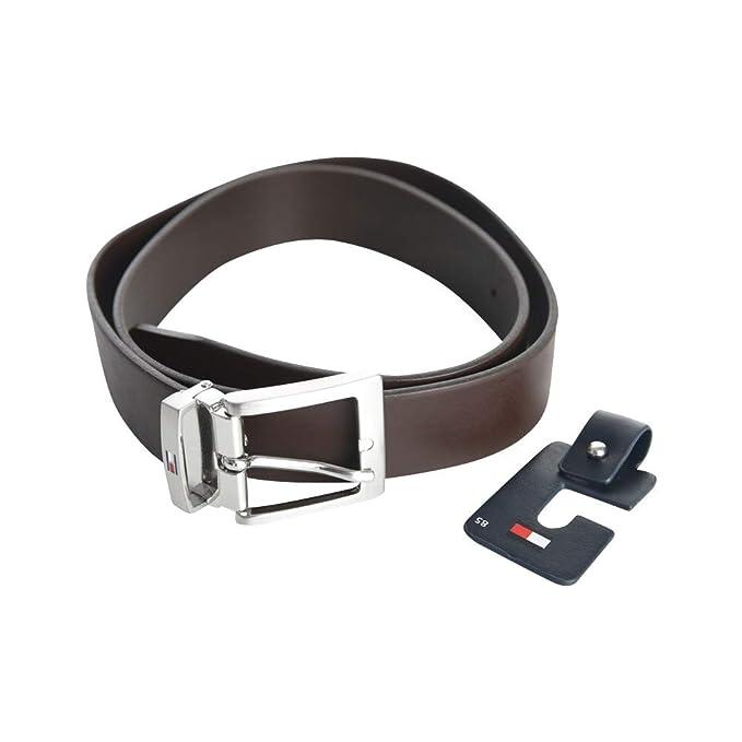 3c4b900d2c65 Tommy Hilfiger - Cinturón - para mujer Marrón marrón 100 cm: Amazon.es:  Ropa y accesorios