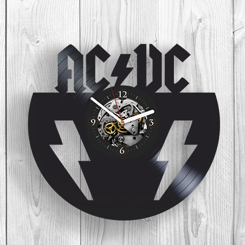 LBDK Vinyl Wall Clock, AC DC, ACDC Rock Music Band, Brian Johnson, Room Decor, Home Decor, Unique Design, Vinyl Record, Best Gift for Fans,Musician, Pop Modern Wall Art by LBDK