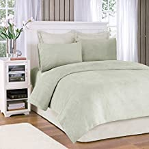 Soloft Plush Queen Bed Sheets Set, Casual Micro Plush Bed Sheets Queen, Sage Bedding Sets 4-Piece Include Flat Sheet, Fitted Sheet & 2 Pillowcases, Green