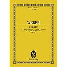 Quintet Bb major: Op. 34 (Eulenburg Studienpartituren)