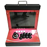 Tongmisi Pandora's Box 5s Plus Fighting Arcade Game Machine 1299 in 1 Multi Games Console with Coin Acceptor for 1 Player,15 Inches Screen - Red