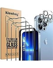 Kiewhay Schermbeschermer Compatibel met iPhone 13 Pro Max Screen Protector 6,7'', 3x Gehard Glas +2x Camera Lens Protector, [9H HARDHEID] HD Screenprotector voor iPhone 13 Pro Max - 5 Stuks