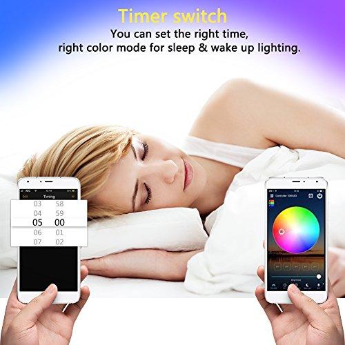 51dnUJ5NYcL - Rxment RGB LED Strip Lights with Remote - 5M 16.4 Ft 5050 RGB 150LEDs Full Kit, Blue LED Light Strip, LED Night Light, LED Rope Lights, LED Tape Light, Alexa Accessories, LED light strips, LED lights