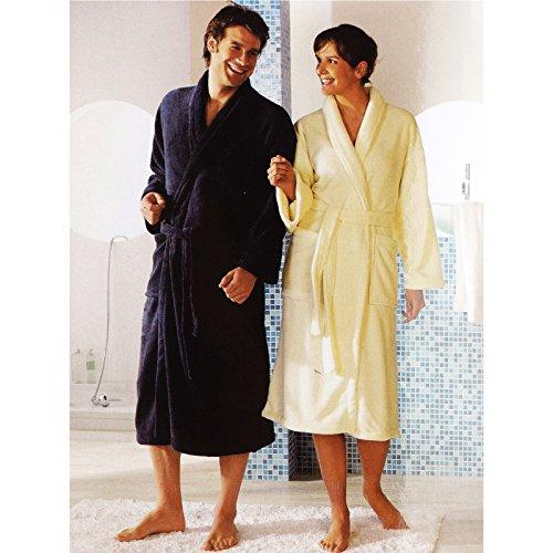 Alta qualità morbido panno in microfibra accappatoio uomo/donna sauna cappotto S/M PREMIUM–QUALITÀ 100% poliestere blu