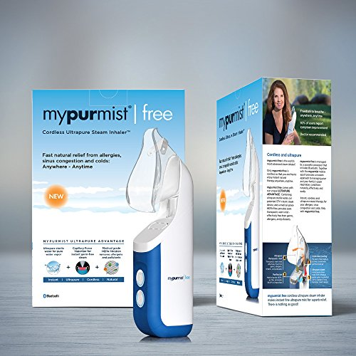 New Cordless Mypurmist Free - Ultrapure Handheld Steam Inhaler and Vaporizer (Mypurmist Free Kit). Fast Natural Relief from Sinus Congestion, Colds and Allergies by MyPurMist (Image #3)'