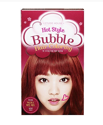 ETUDE HOUSE Hot Style Bubble Hair Coloring #RD06 WINE RED