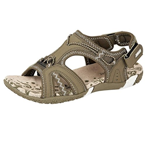 katt_brand Ladies Sports Sandals Womens Summer Light Weight Shoes Khaki