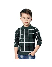 MiMiXiong Boy's School Uniform Pullover Sweaters Long Sleeve Cotton Knitted Clothes