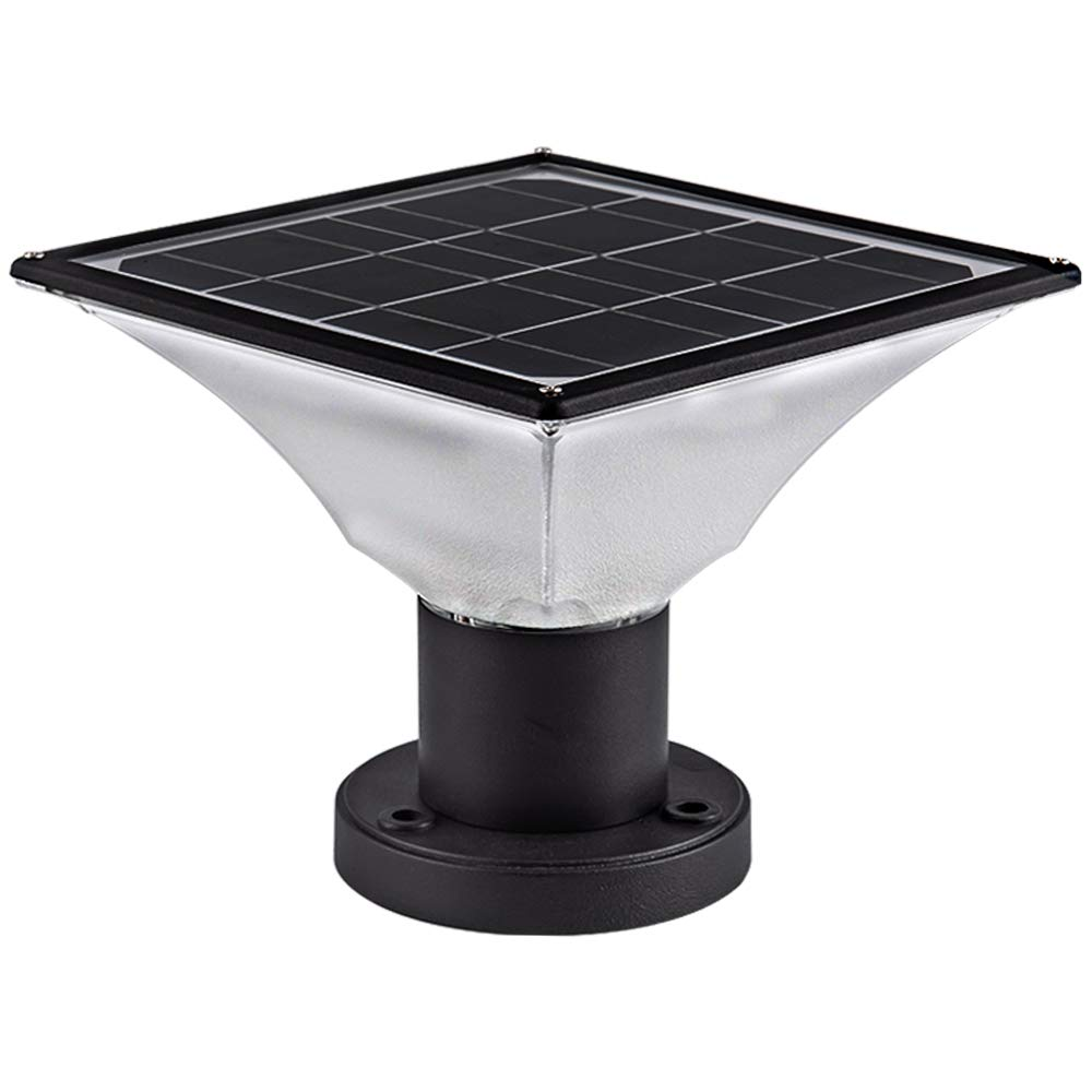 Solar Post Cap Lights Outdoor - Three Modes Outdoor Lights for Fence Deck or Patio - Solar Powered Deck Post Lights - Waterproof Warm White LED Lighting fits 4x4 or 6x6 Posts (1 Pack) by Infinilights