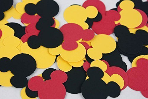Amazon 100 Black Red Yellow Mickey Confetti Paper