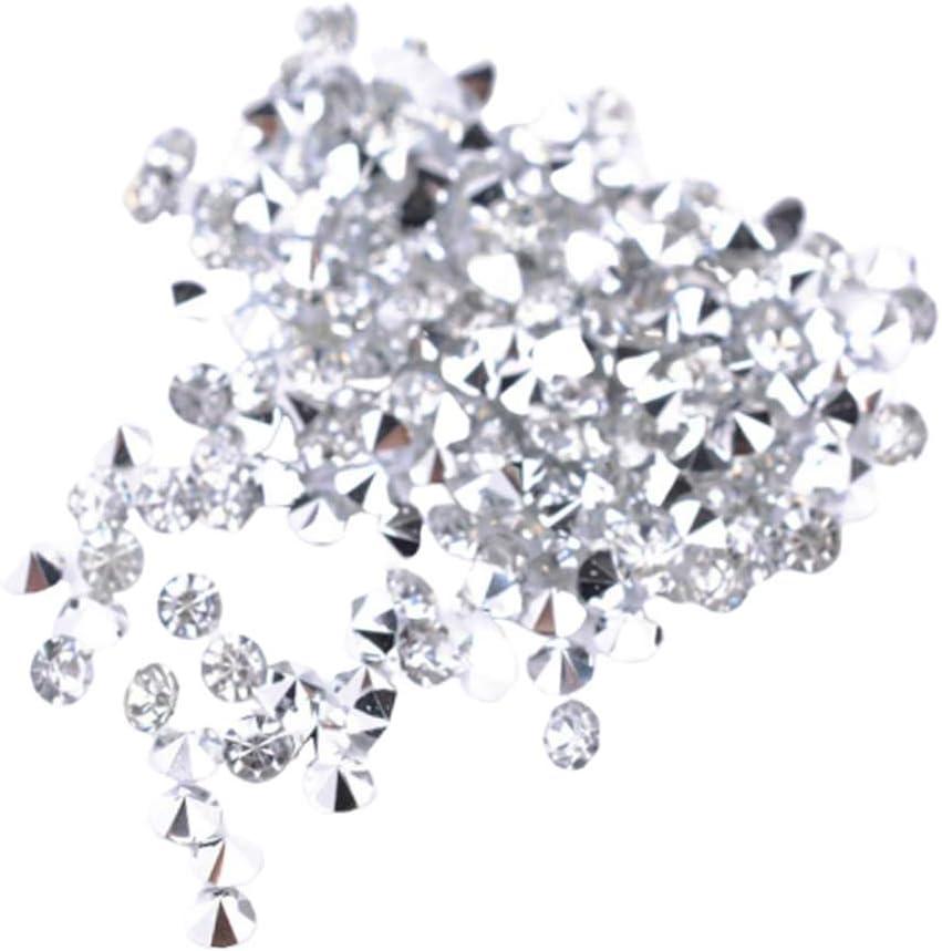 LOVIVER 5000pcs 3mm Mesa De Boda Transparente Cristales De Dispersión Diamantes Piedras Preciosas Para Bodas Decoraciones De Fiesta - Blanco, tal como se describe