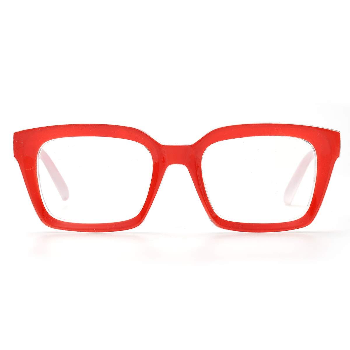 20e64274c669 Amazon.com  Fashion Oprah Style for Women Nerd Eyeglasses Square Big Frames  Large Clear Lens-can replace the prescription lens (Black)  Clothing