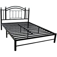 Home Source 11211 57 by 80 by 40-Inch Bed Frames, Full, Black/Chrome