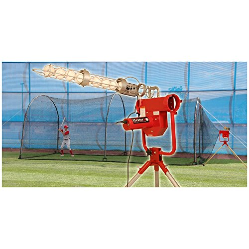 (Heater Sports 24 ft. Pro Pitching Machine & Xtender Batting Cage Package)
