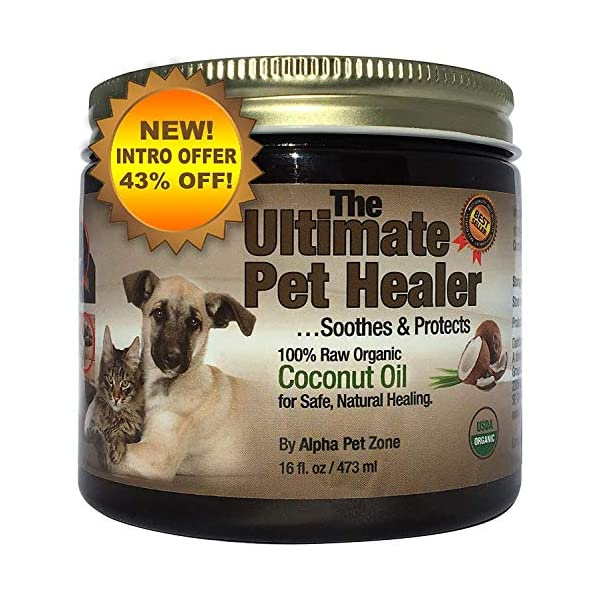 (470ml) – Alpha Pet Zone Coconut Oil for Dogs, Treatment for Itchy Skin, Dry Elbows, Paws and Nose Click on image for further info.