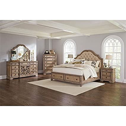 Amazon.com: BOWERY HILL 5 Piece King Storage Bedroom Set in ...