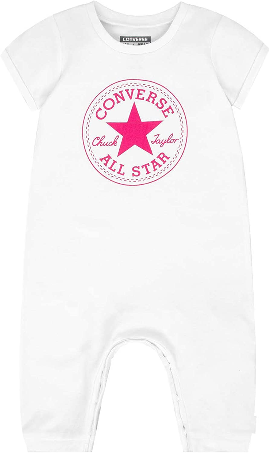 T Shirt Converse Chuck Patch pour fille en rose