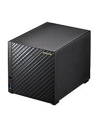 ASUSTOR AS3104T, NAS (sin disco), Intel 1,6 gHz Dual Core, 2 GB de RAM, incluye as rc13 Multimedia mando a distancia