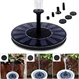 Solar Powered Fountain Pump, 1.4W Water Fountain Birdbath Solar Powered Pump, Waterproof, Free Standing, Submersible Outdoor Water Pump