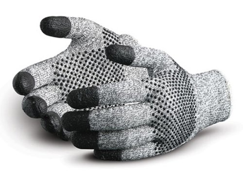 Cut Resistant Work Pack of 1 Pair Superior SDYG2DFT SuperiorTouch Dyneema Fiber Dotted Glove with Nitrile Tip 13 Gauge Thickness Size 11