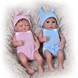 Mini 11 Inch Realistic Reborn Baby Doll Rooted Mohair Full Silicone Vinyl...