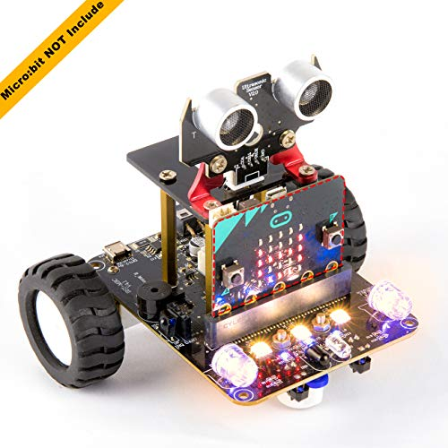 Yahboom Coding Robot for Microbit STEM Education for Kids to Programmable DIY Toy Car with Tutorial for 8+ (Micro:bit NOT Include)
