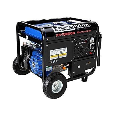 DuroMax XP10000E, 8000 Running Watts/10000 Starting Watts, Gas Powered Portable Generator - Refurbished